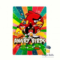 Placa Decorativa Angry Birds em MDF  40 x 28