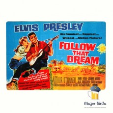 Placa Decorativa Elvis Presley - Follow That Dream em MDF  40 x 28